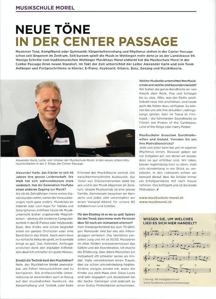 Alexander Karle im Interview mit der Centerpost der Centerpassage Wettingen