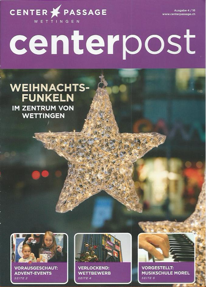 Cover Centerpost der Center Passage Wettingen